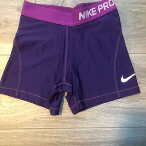 purple youth nike pros
